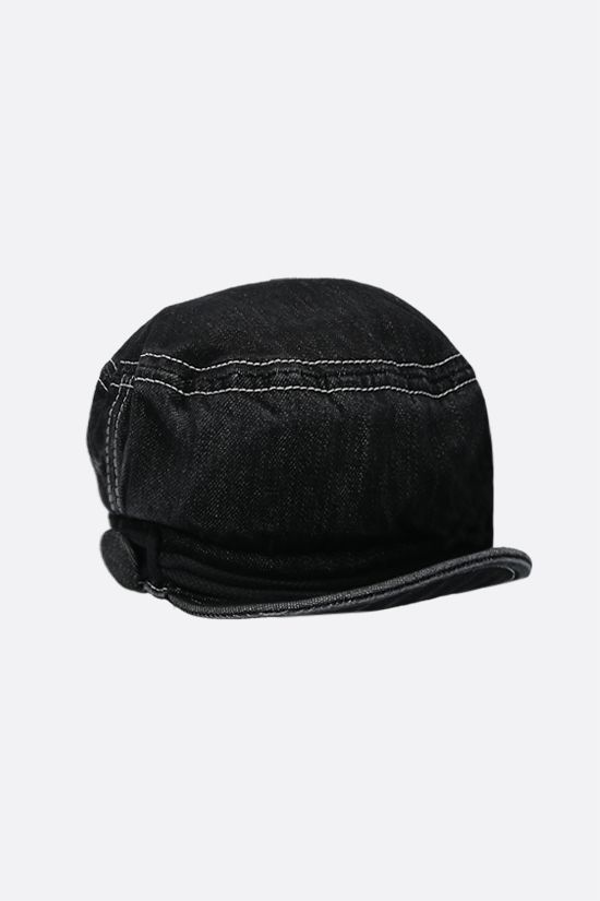 MAISON MICHEL: Soft New Abby denim sailor cap Color Black_2
