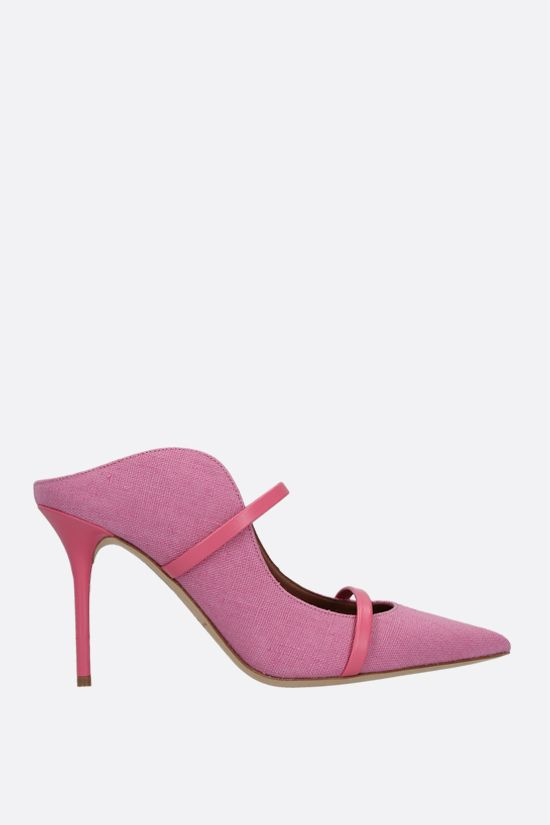 MALONE SOULIERS: Maureen canvas mules Color Pink_1