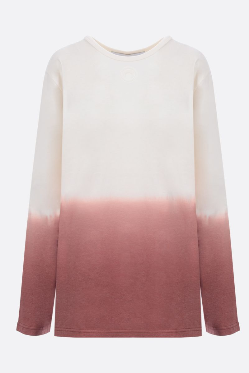 MARINE SERRE: Dip Dye cotton long-sleeved t-shirt Color Multicolor_1
