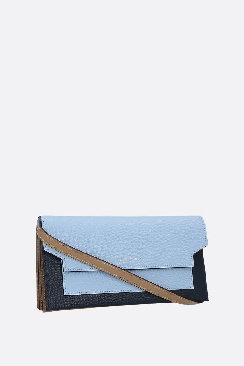 MARNI: saffiano leather strap wallet_2
