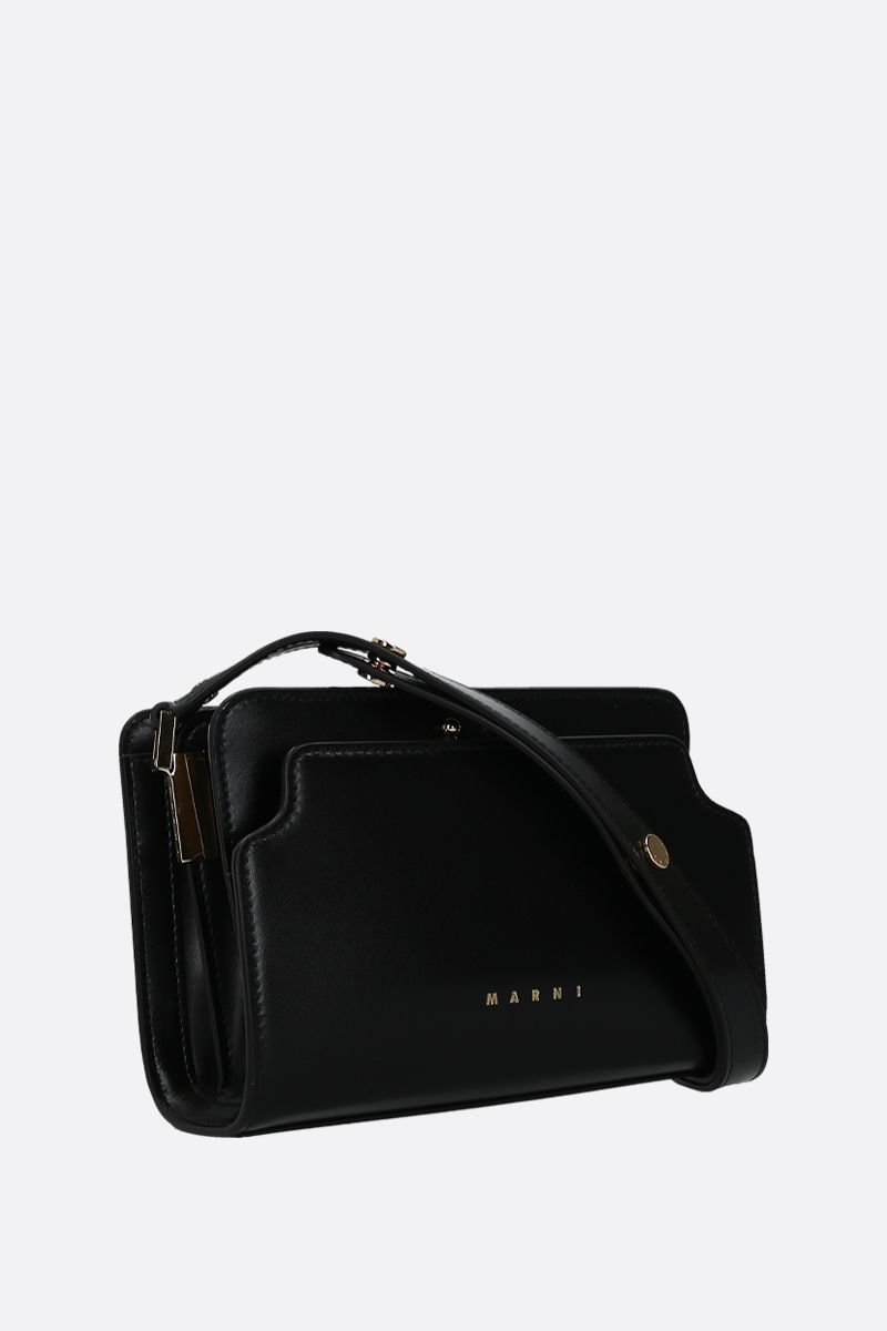 MARNI: Trunk mini smooth leather shoulder bag Color Black_2
