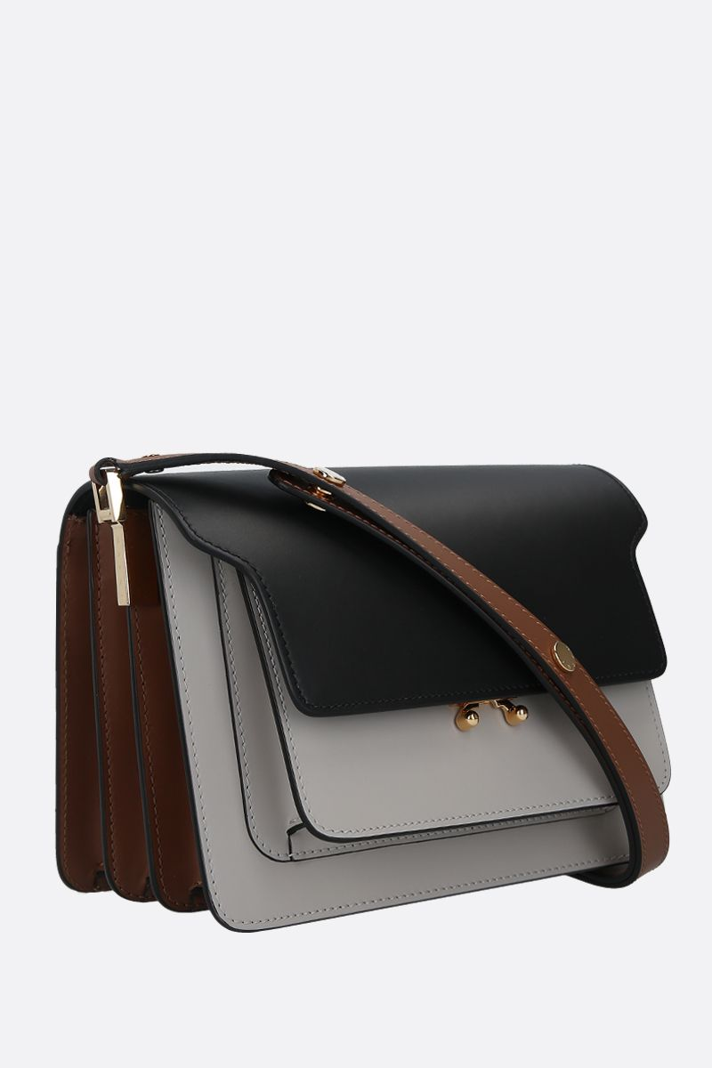 MARNI: Trunk medium smooth leather shoulder bag_2