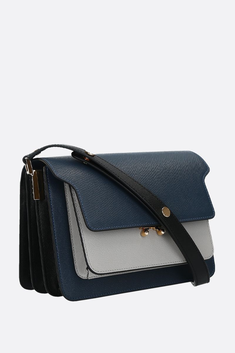 MARNI: Trunk medium saffiano leather shoulder bag_2