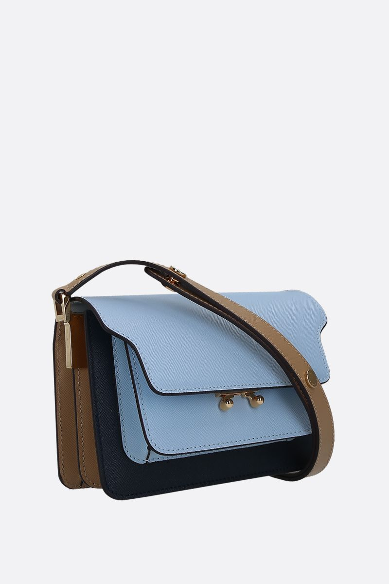 MARNI: Trunk mini crossbody bag in saffiano leather_2