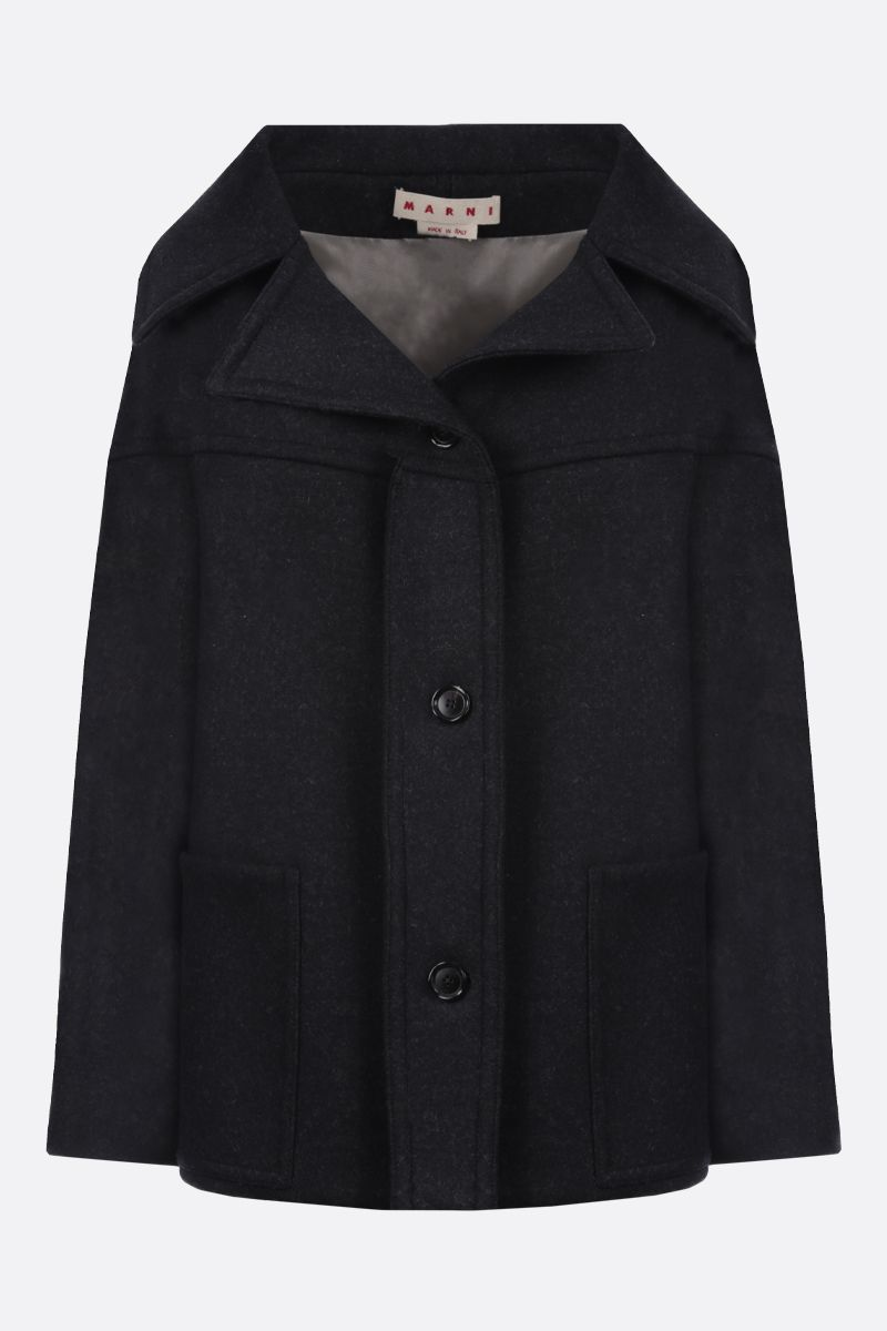 MARNI: wool blend single-breasted coat Color Grey_1