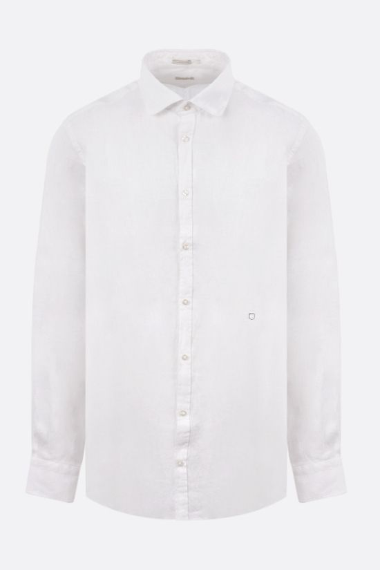 MASSIMO ALBA: Canary linen shirt Color White_1
