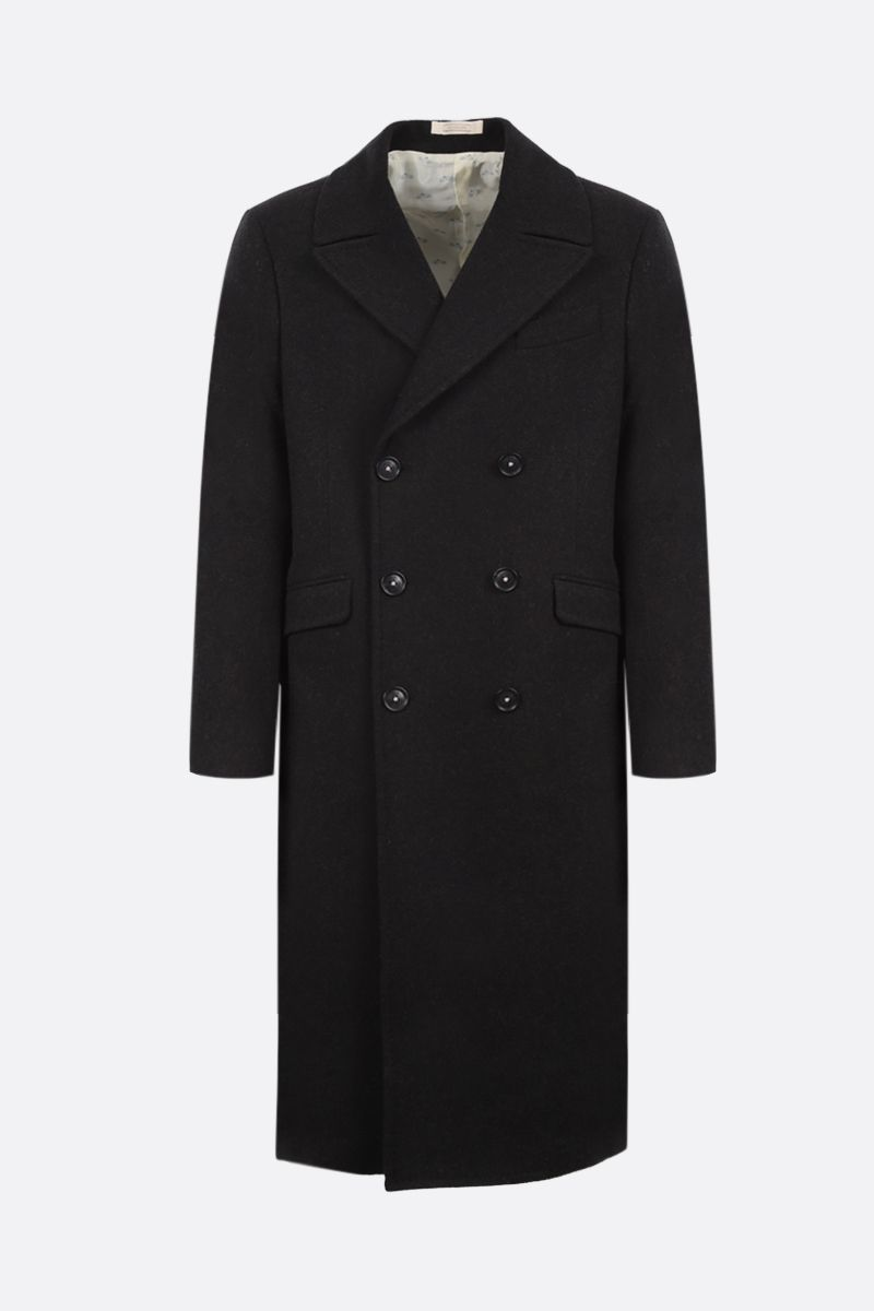MASSIMO ALBA: wool double-breasted coat Color Brown_1