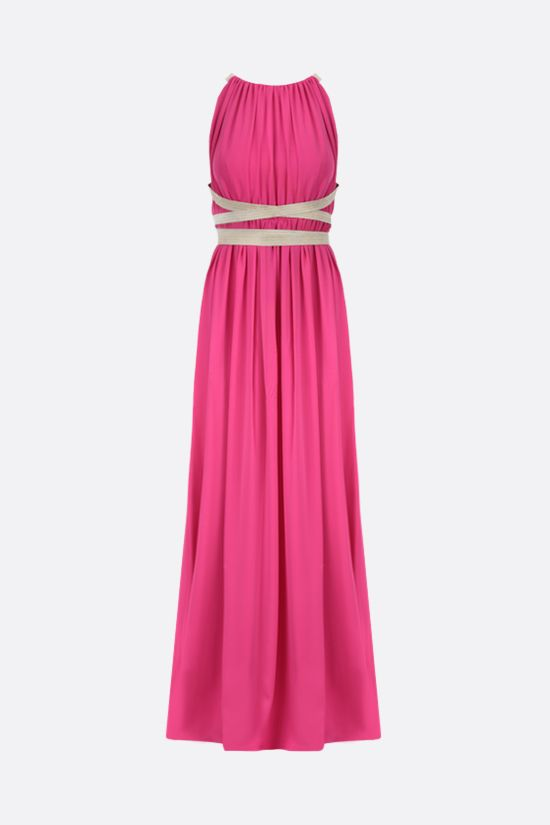 MAX MARA: Orde silk sleeveless dress Color Purple_1