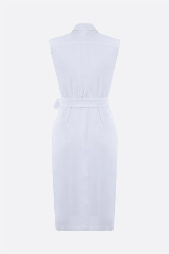 MAX MARA: Elica stretch cotton shirt dress Color White_2