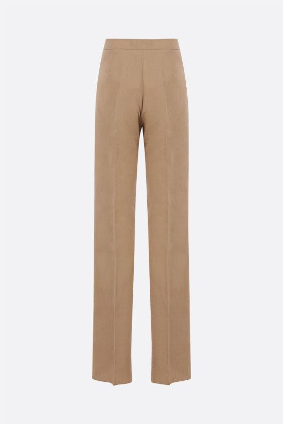 MAX MARA: Bice straight-leg linen pants Color Brown_2