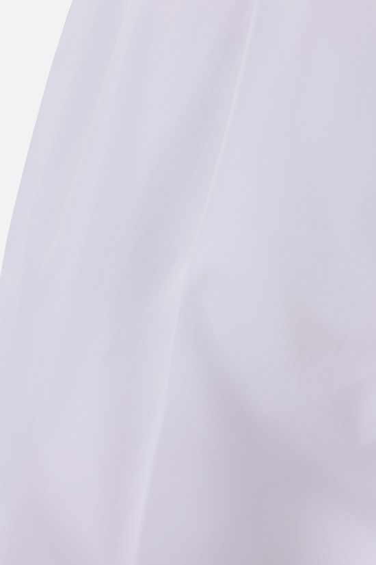 MAX MARA: Eburnea stretch cotton pants with Color White_2