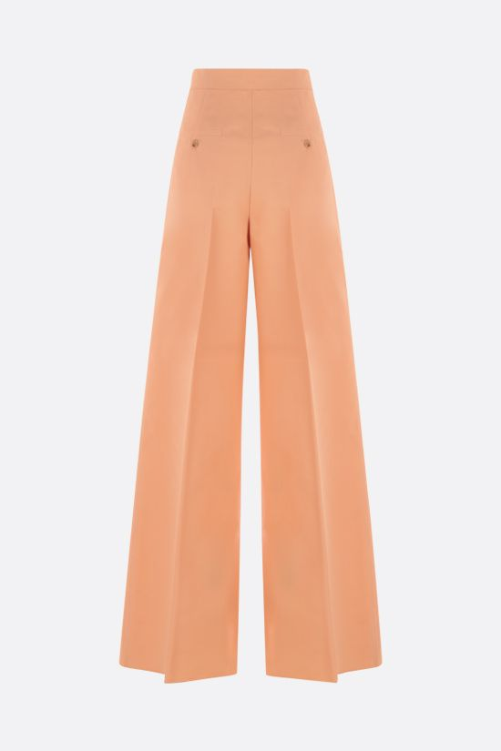MAX MARA: Sabbia gabardine wide-leg pants Color Orange_2