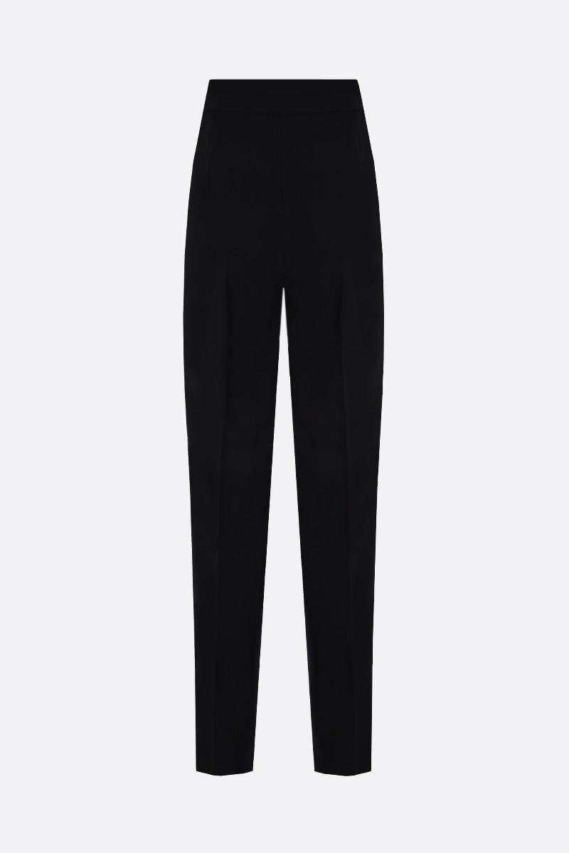 MAX MARA: Anny stretch cady tuxedo pants Color Black_2