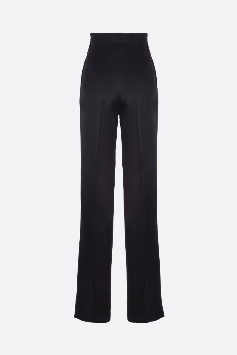MAX MARA: Eremi satin wide-leg pants Color Black_2