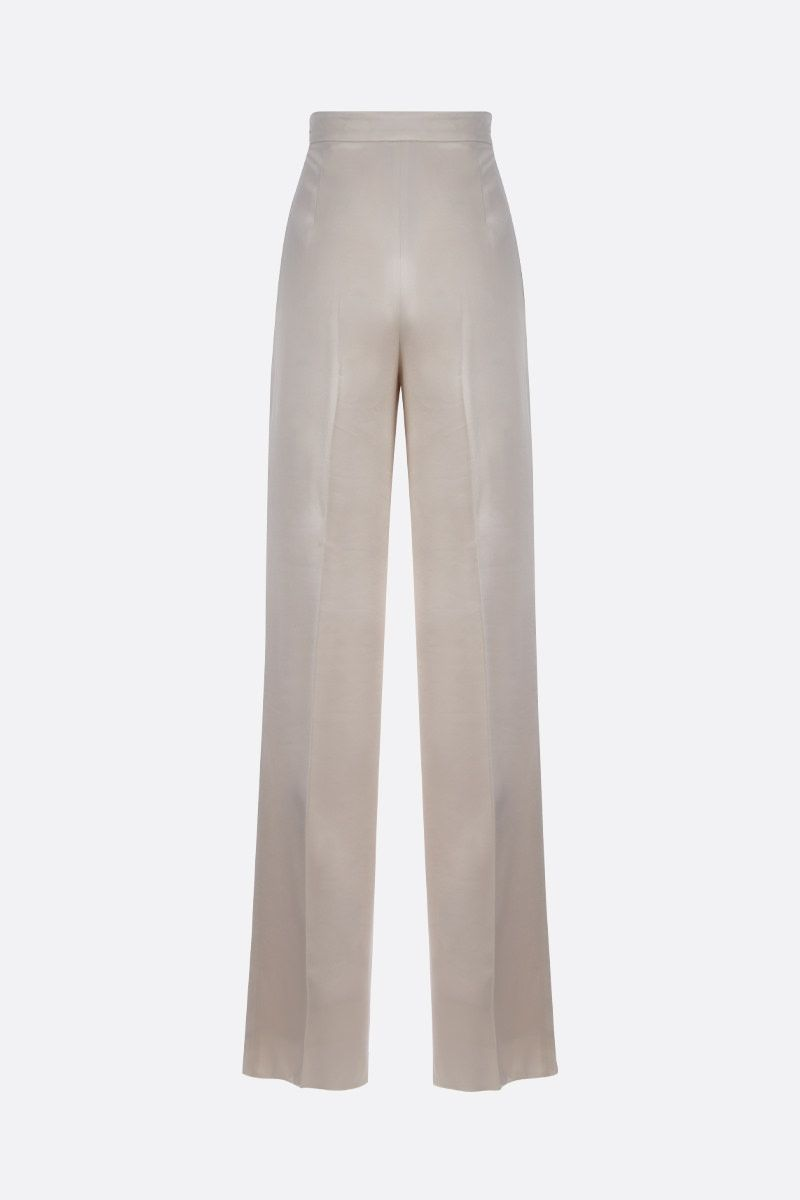 MAX MARA: Eremi satin wide-leg pants Color Neutral_2