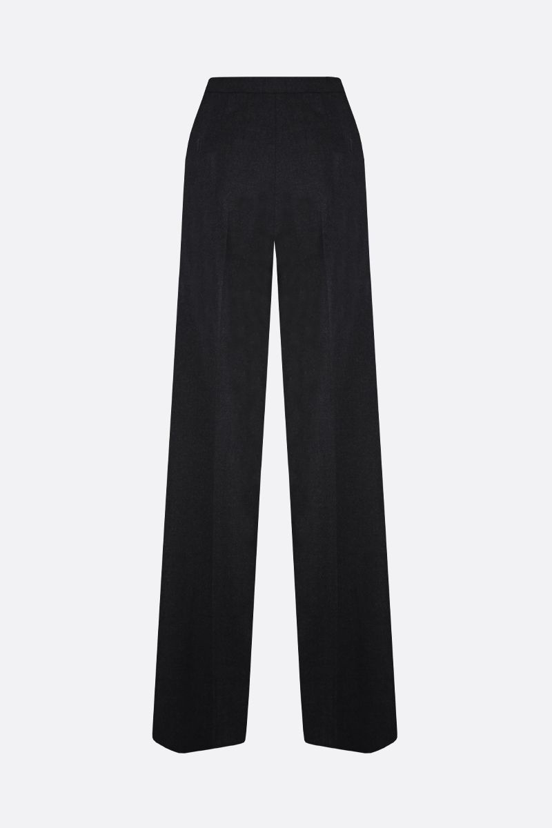 MAX MARA: Cesy stretch wool wide-leg pants Color Grey_2