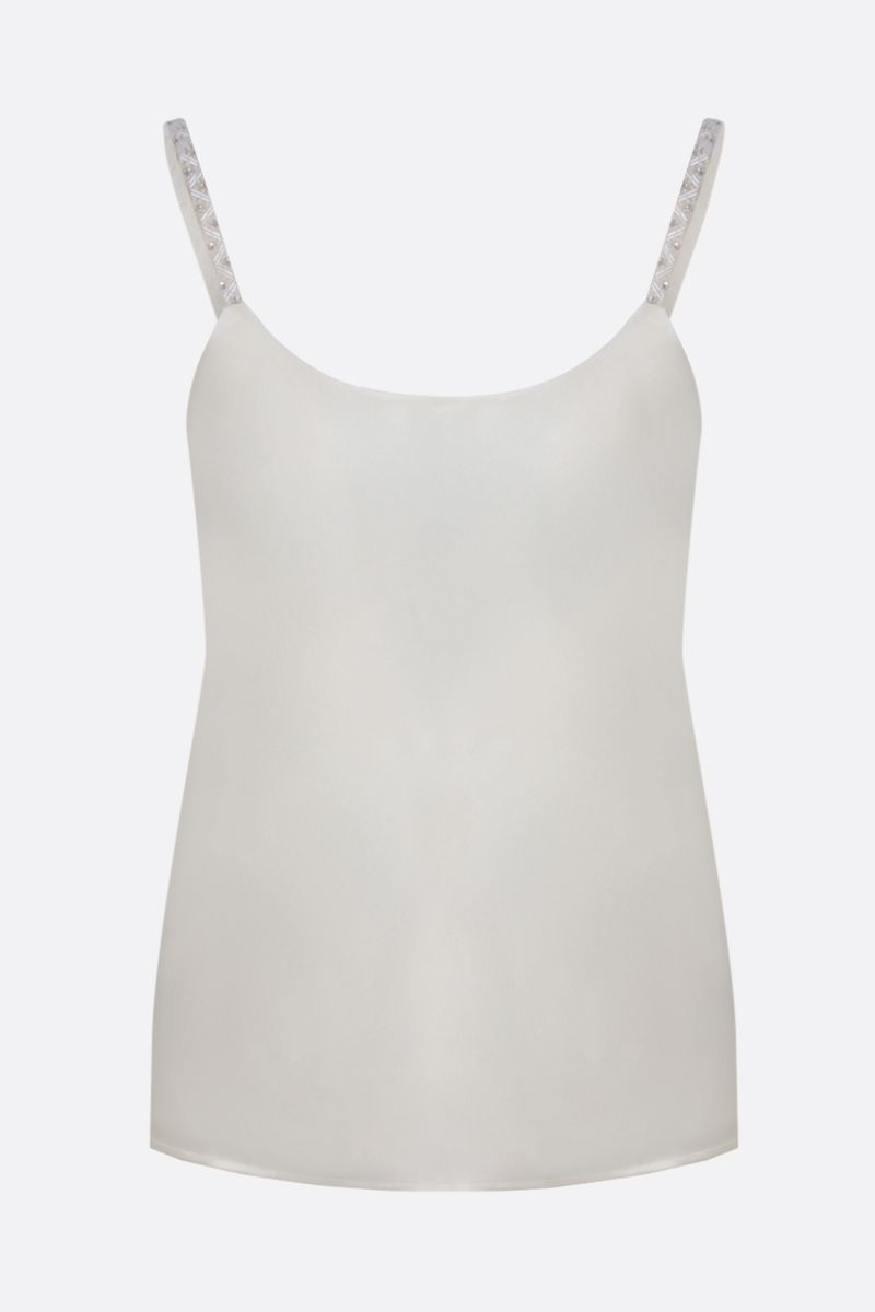 MAX MARA: Lory silk top Color White_1