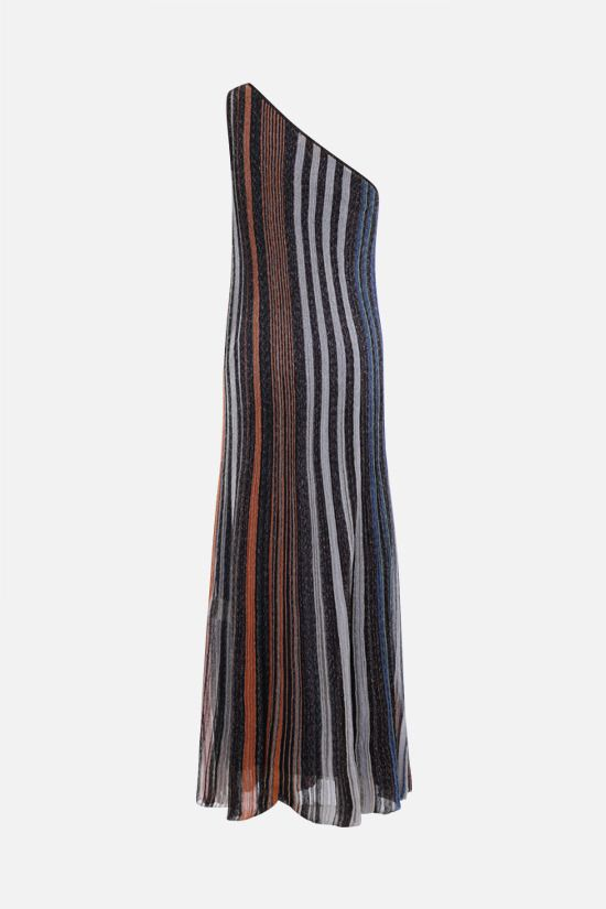 MISSONI: striped lightweight knit one-shoulder dress Color Multicolor_2