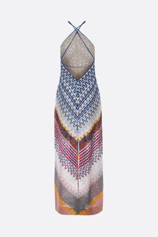 MISSONI: wave motif lightweight knit sleeveless dress Color Multicolor_2