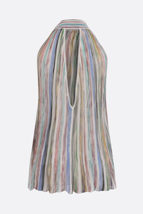 MISSONI: striped cotton blend sleeveless top Color Multicolor_2