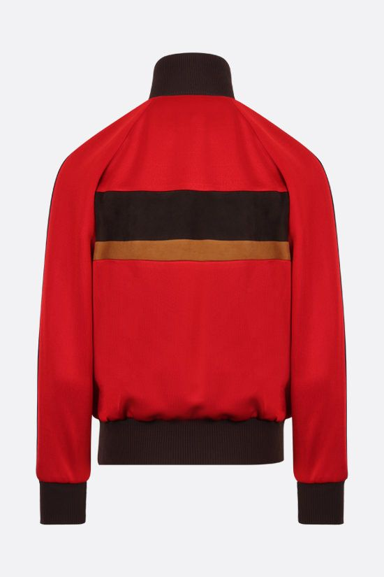 MIU MIU: suede insert lux jersey bomber jacket Color Red_2