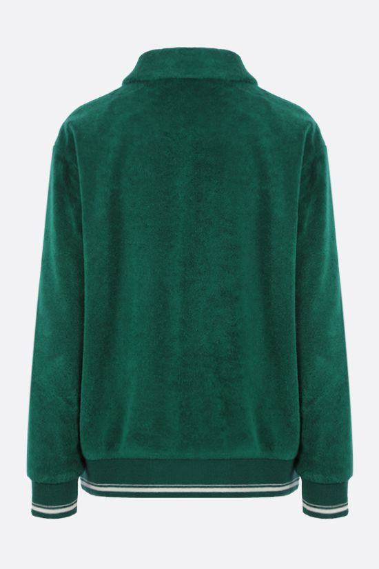 MIU MIU: intarsia terry jersey bomber jacket Color Green_2