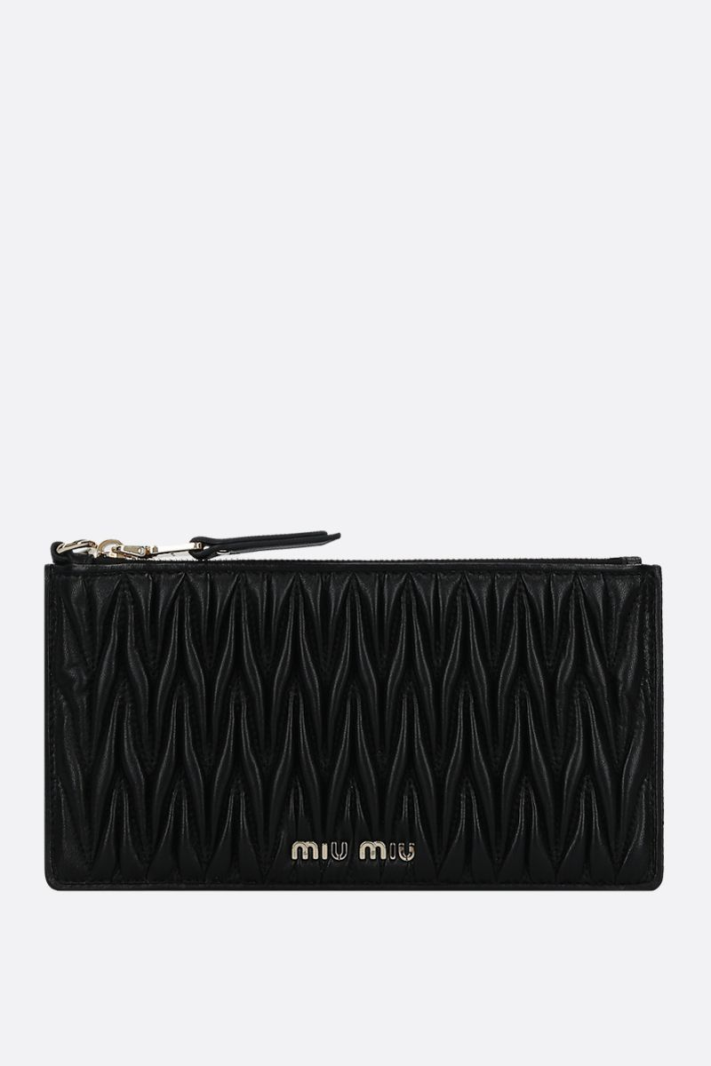 MIU MIU: quilted nappa pouch Color Black_1