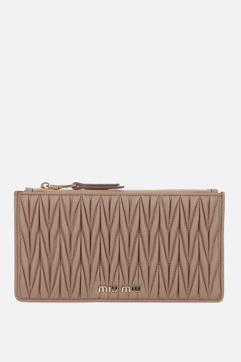 MIU MIU: quilted nappa pouch Color Neutral_1