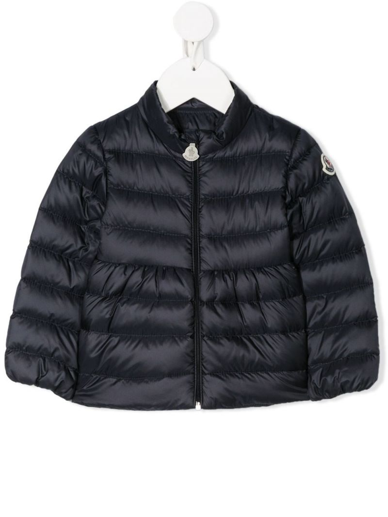 MONCLER KIDS: Joelle nylon down jacket Color Blue_1