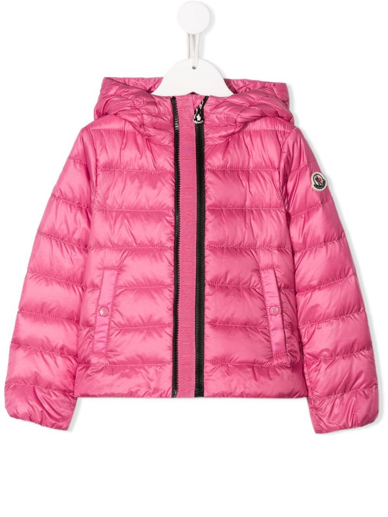 MONCLER KIDS: Glycine nylon down jacket Color Pink_1