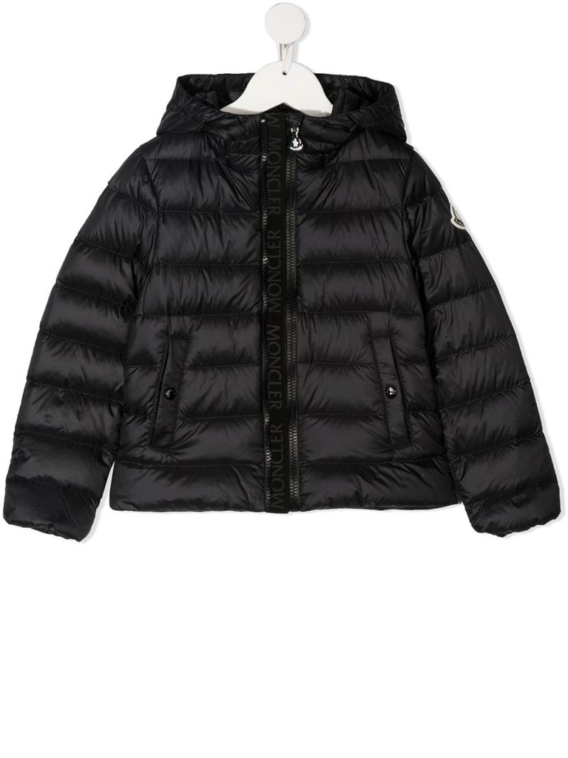 MONCLER KIDS: Glycine nylon down jacket Color Black_1