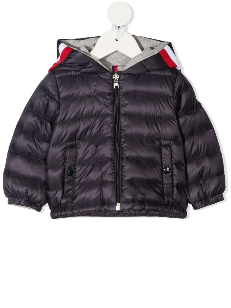 MONCLER KIDS: Gaddy nylon down jacket Color Blue_1