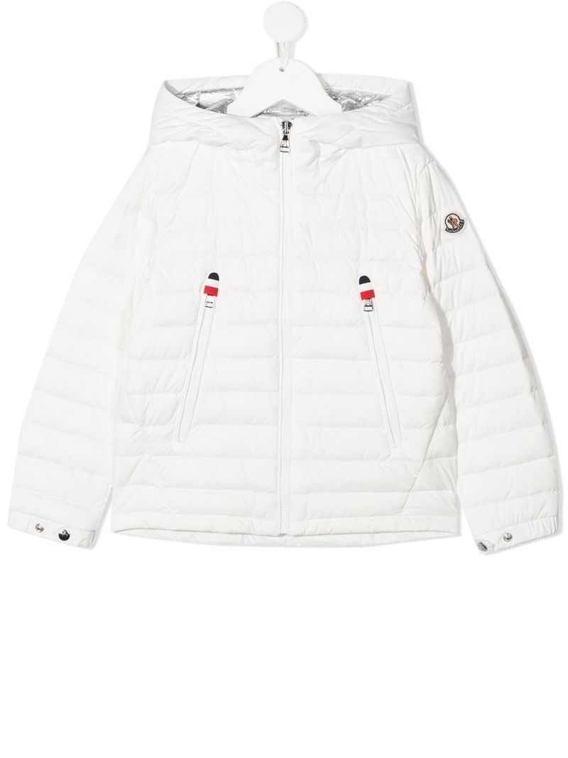 MONCLER KIDS: Sill nylon down jacket Color White_1