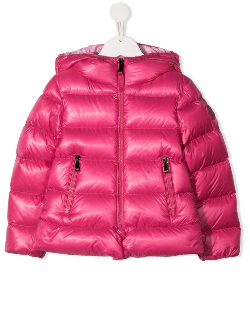 MONCLER KIDS: Sunday nylon down jacket Color Pink_1