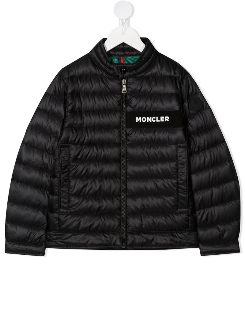 MONCLER KIDS: Nasses nylon down jacket Color Black_1