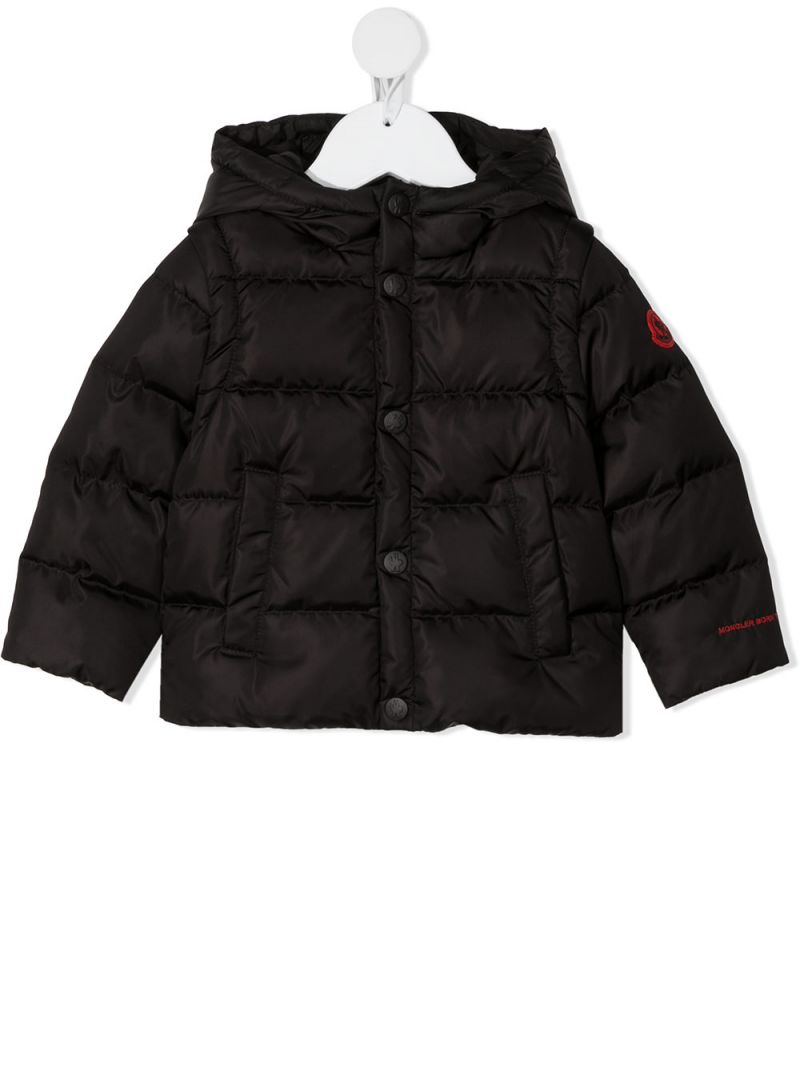 MONCLER KIDS: Hasan nylon down jacket Color Black_1