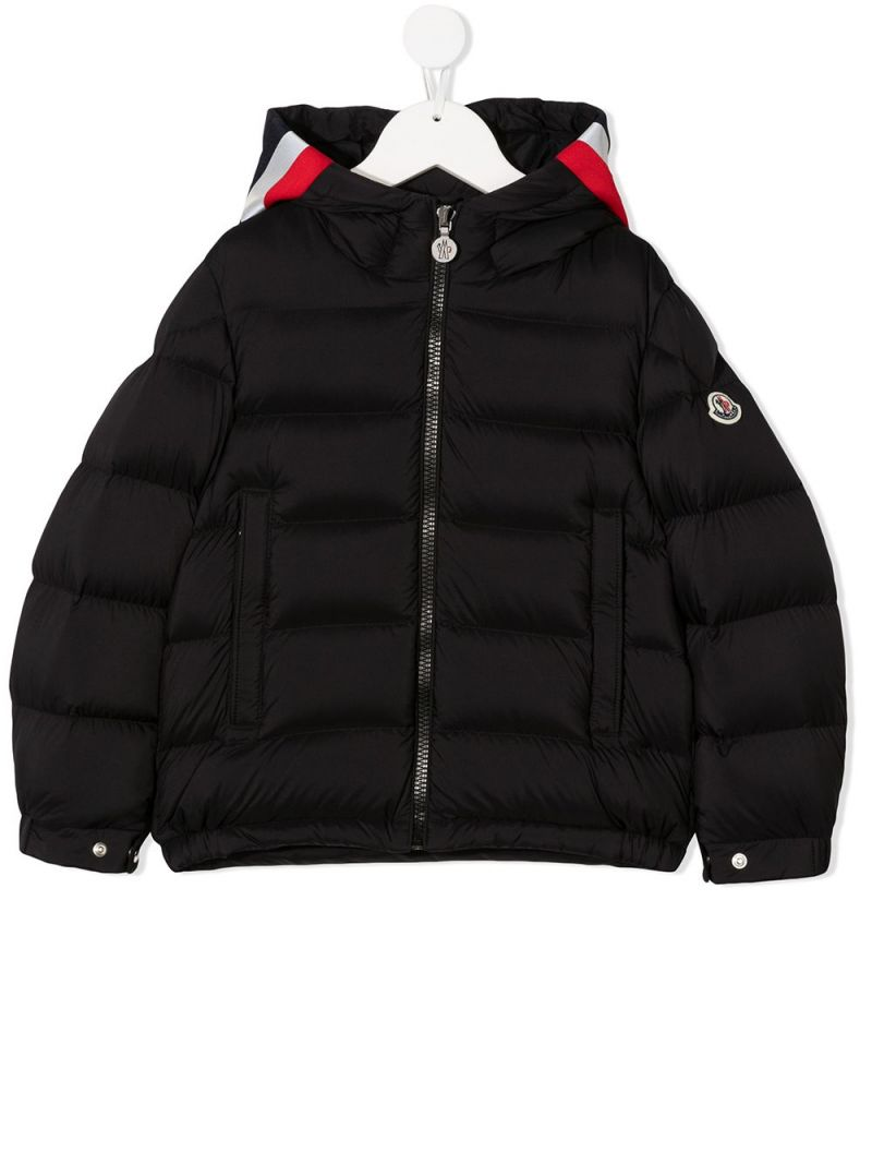 MONCLER KIDS: Sorue nylon down jacket Color Black_1