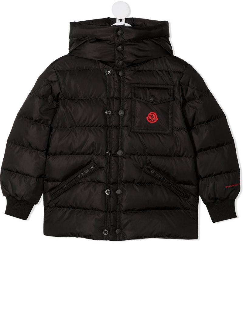 MONCLER KIDS: Gaite nylon down jacket Color Black_1