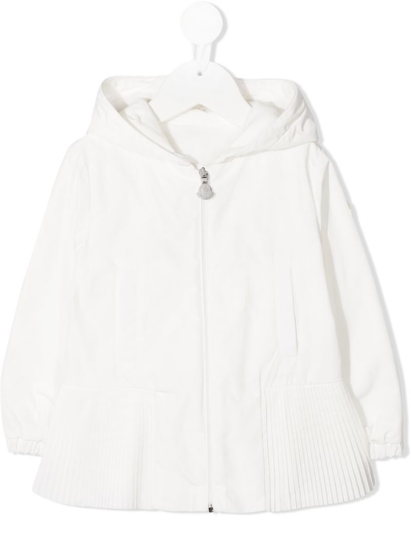 MONCLER KIDS: Eukodie nylon windbreaker Color White_1