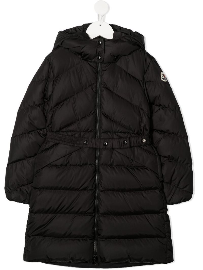 MONCLER KIDS: Agot nylon down jacket Color Black_1