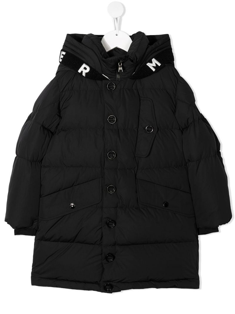 MONCLER KIDS: Cestro nylon down jacket Color Black_1