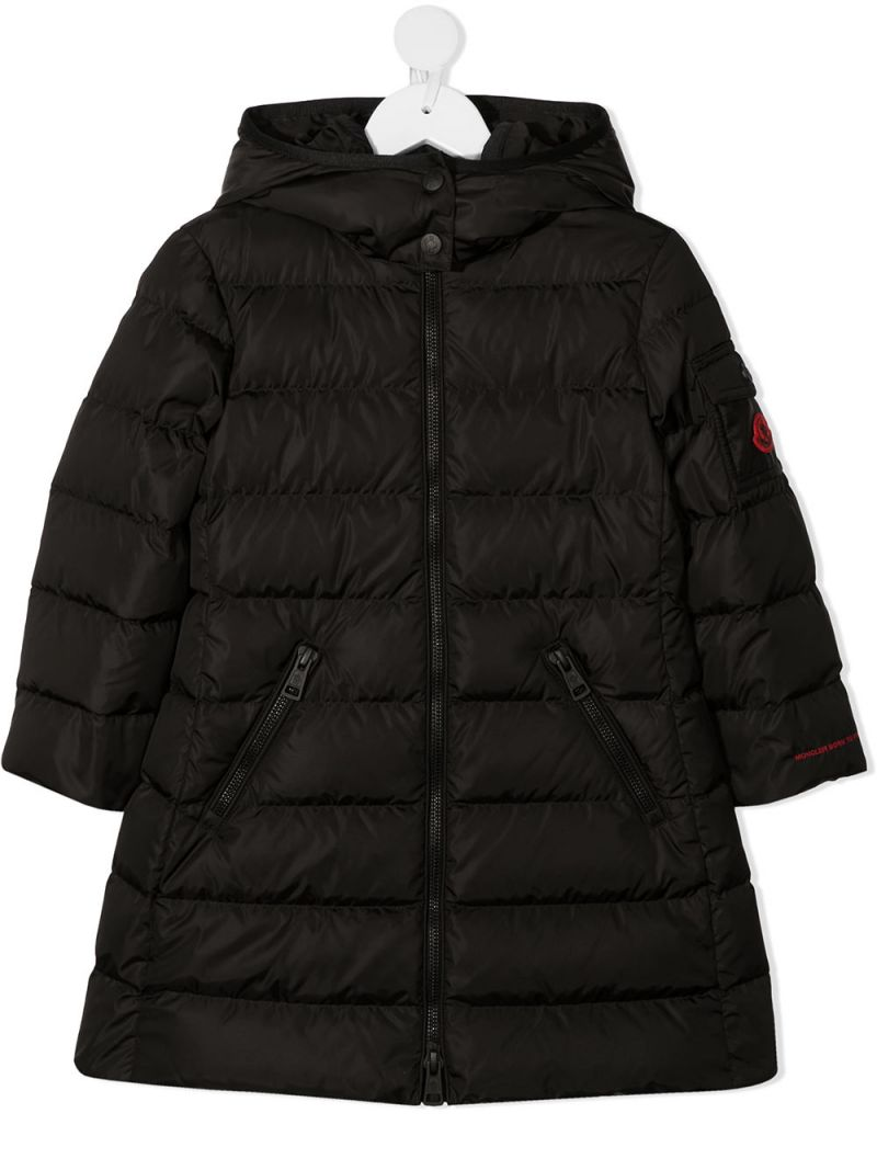 MONCLER KIDS: Lemenez nylon down jacket Color Black_1