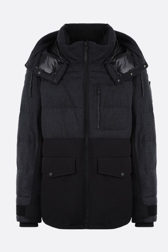 MOOSE KNUCKLES: Flemington wool and technical canvas padded parka coat Color Black_1