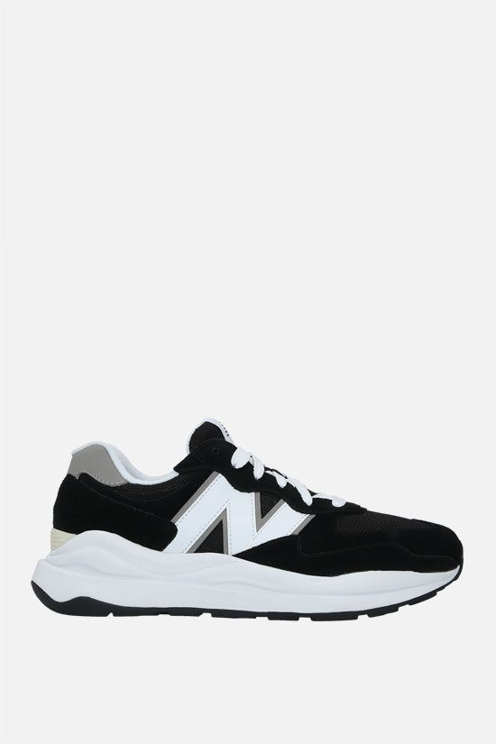 NEW BALANCE: 57/40 suede and mesh sneakers Color Black_1