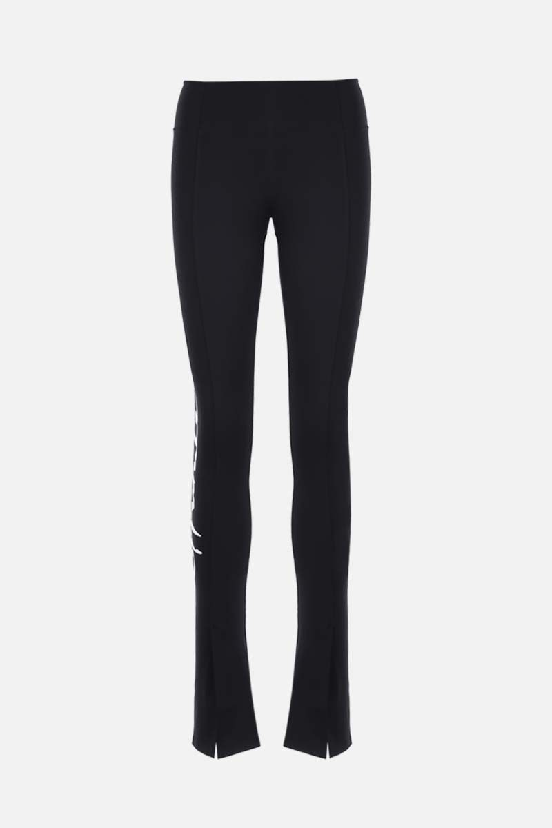OFF WHITE: Athleisure technical fabric leggings Color Black_1
