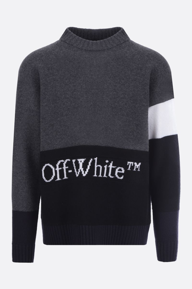OFF WHITE: Off-White™ intarsia colour-block wool pullover_1