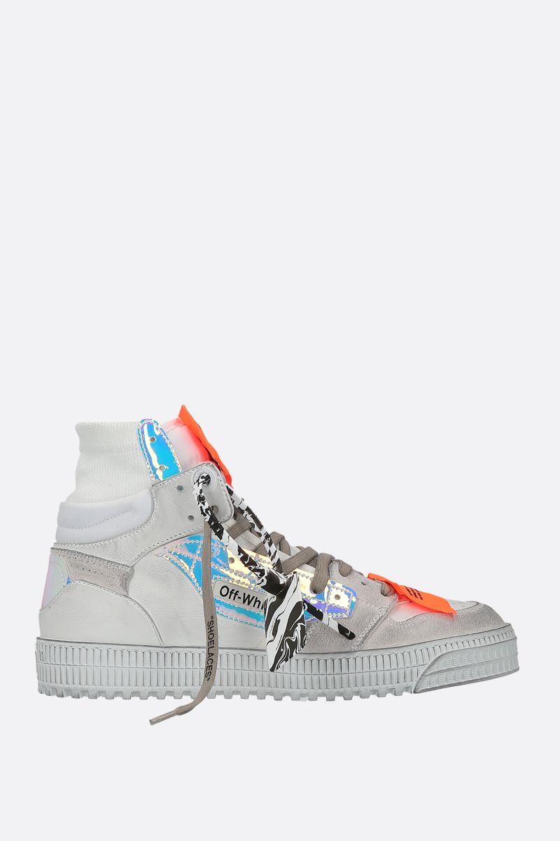 OFF WHITE: Off Court 3.0 smooth leather and suede sneakers Color White_1