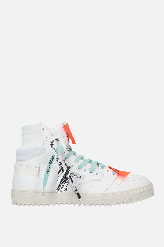 OFF WHITE: Off-Court 3.0 smooth leather and canvas sneakers Color White_1