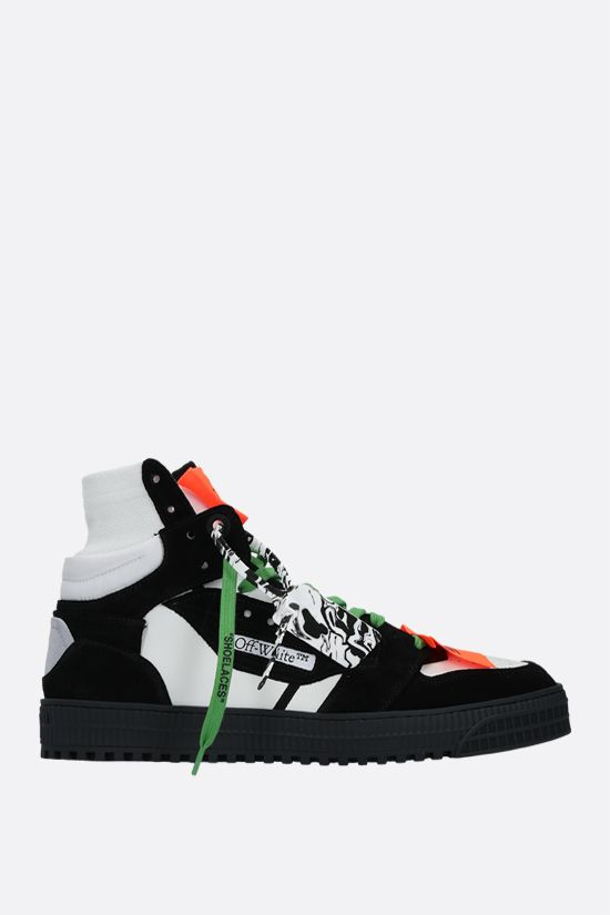 OFF WHITE: sneaker high-top Off Court 3.0 in pelle liscia e suede Colore Nero_1