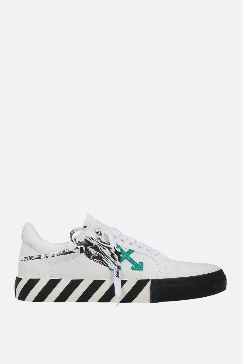 OFF WHITE: sneaker Low Vulcanized in canvas Colore Bianco_1